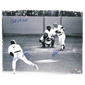 """Bucky Dent 1978 Playoff HR vs Mike Torrez Dual Signed 22X26 Canvas w/ """"10-2-1978"""" Insc by Torrez ()"""