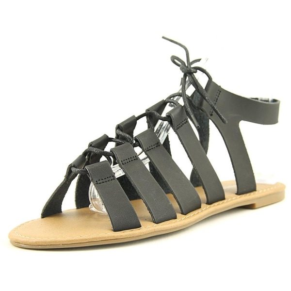 Wanted Chillie Women Open Toe Synthetic Black Gladiator Sandal