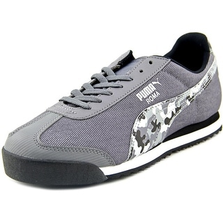 Puma Roma Denim Camo Jr. Youth Round Toe Canvas Sneakers