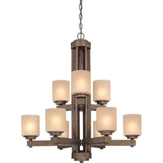 Dolan Designs 2702 9 Light Up Light Chandelier with Harvest Glass