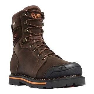 """Danner Men's Trakwelt 8"""" Work Boot Brown Full Grain Leather"""