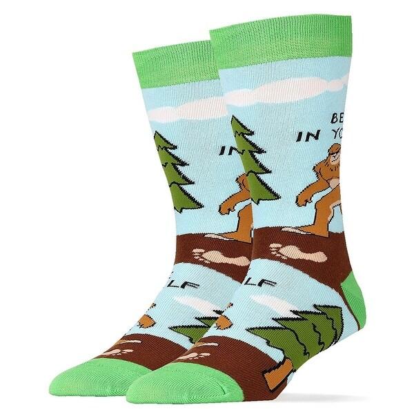 Believe Big Foot Men's Crew Socks - Multi