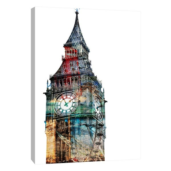 "PTM Images 9-109021 PTM Canvas Collection 10"" x 8"" - ""London Spirit"" Giclee Big Ben Art Print on Canvas"