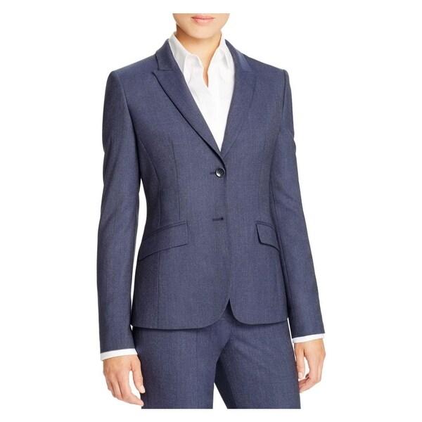 7d8497405 Shop BOSS Hugo Boss Womens Julea1 Two-Button Blazer Wool Houndstooth ...