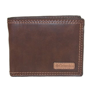 Columbia Men's RFID Protected Passcase Bifold Wallet - Brown - One Size