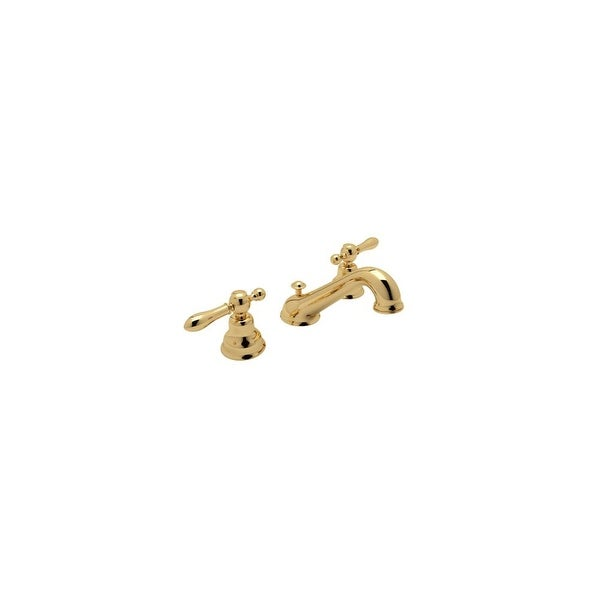 Rohl AC102LM 2 Cisal Widespread Bathroom Faucet With Classic Metal Lever  Handles And Pop