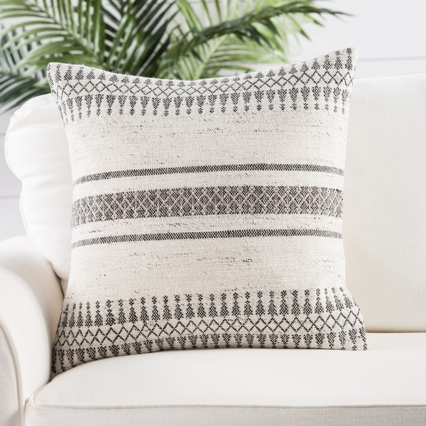 Tribal Pattern Ivory/Gray Throw Pillow. Opens flyout.