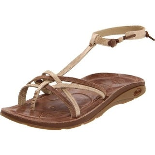 Chaco Womens Leather Casual Thong Sandals - 5 medium (b,m)
