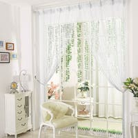 """Drop Beaded Chain String Curtain Voile Net Panels for Room Divider 39""""x78"""""""