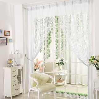 "Drop Beaded Chain String Curtain Voile Net Panels for Room Divider 39""x78"""
