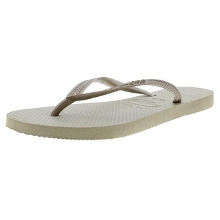 Havaianas Womens Metallic Slide Flip-Flops - 6
