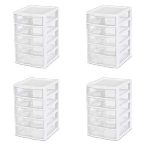 STERILITE Small 5 Drawer Units, Clear