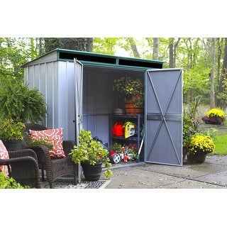 Arrow Euro-Lite 8' W x 4' L Hot Dipped Galvanized Steel Shed /ELPHD84