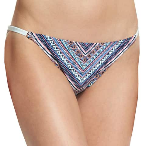 Vince Camuto Blue Womens Size XS Geo-Print String Bikini Bottom