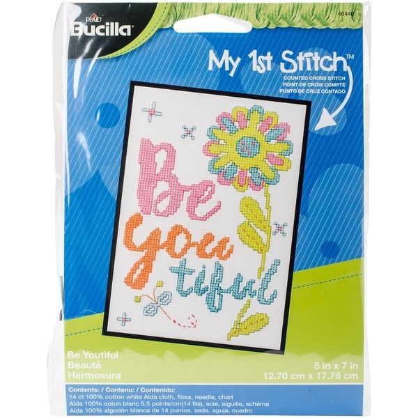 "My 1St Stitch Beautiful Mini Counted Cross Stitch Kit-5""X7"" 14 Count"