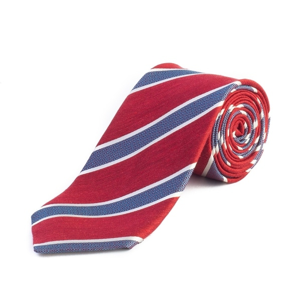 da572642 Ermenegildo Zegna Men's Slim Silk Striped Tie Red - no size