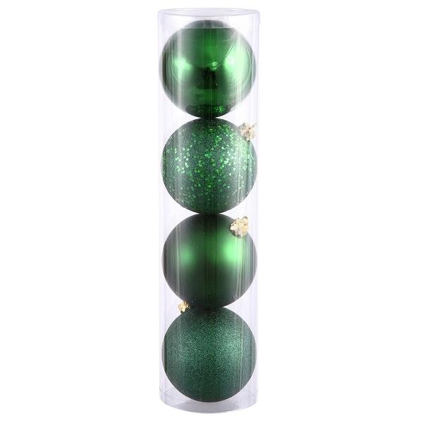 """10"""" Emerald 4 Fin Ball Asst Drilled 4/Bg"""