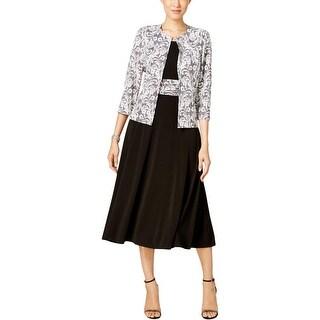 Jessica Howard Womens Dress With Cardigan Wear to Work Jersey - 10