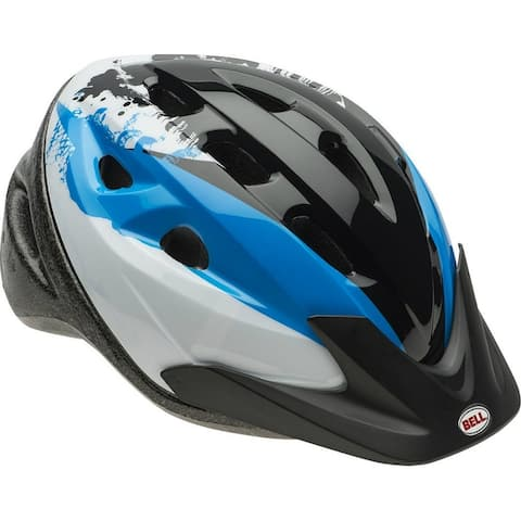 Bell 7063287 Youth Boys Richter Bike Helmet, Blue/Black/Silver