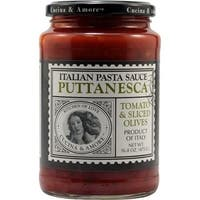 Cucina and Amore Pasta Sauce - Puttanesca - Case of 6 - 16.8 oz.