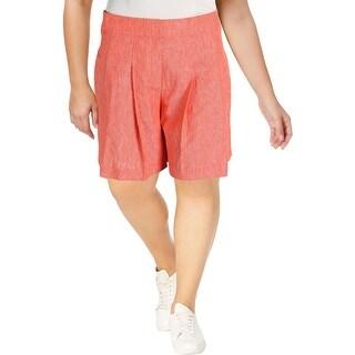 Nine West Womens Wide Leg Shorts Twill High Waist