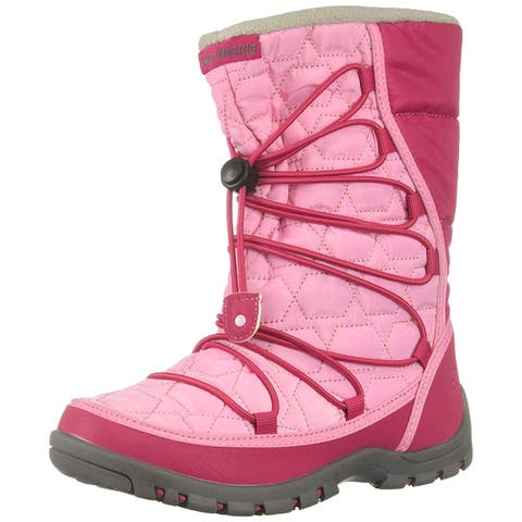 Kids Northside Girls Starling Fabric Mid-Calf Bungee Snow Boots