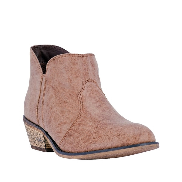 "Dingo Western Boots Womens Socorro 4"" Round Composite Tan"