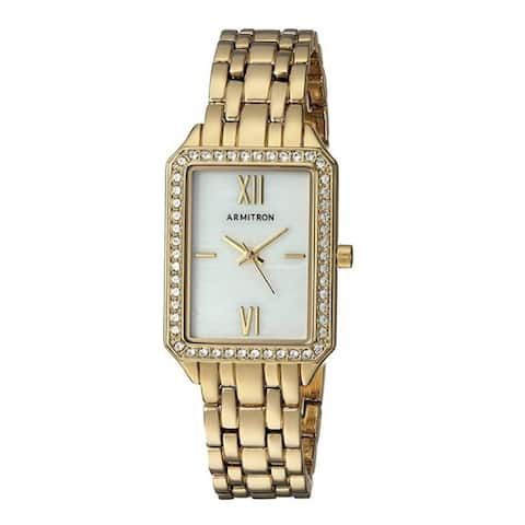 Armitron Women's 24mm Swarovski Crystal Gold-Tone Bracelet Watch