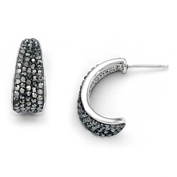 Chisel Stainless Steel Polished Crystal Post Earrings