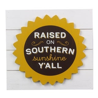 Raised on Southern Sunshine Yall Paula Deen Tapletop Box Sign Wood