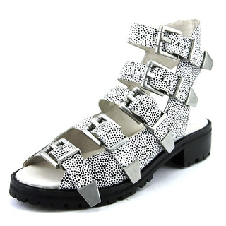 Bronx Ultra Fast Women Open Toe Leather White Gladiator Sandal