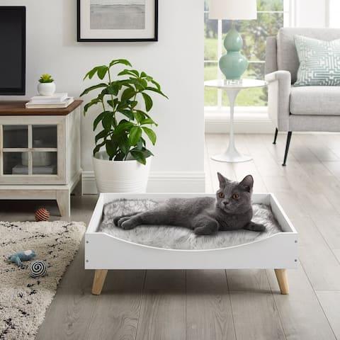 """Chauncy® 9"""" White Cat Tree"""