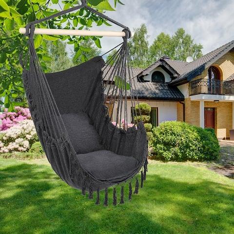 1.5x1.2m Tassel Plus Pillow Hanging Chair 3 Colors