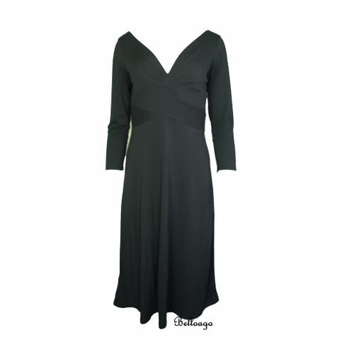 Charter Club Women's Black Dress (P4) - 4 Petite