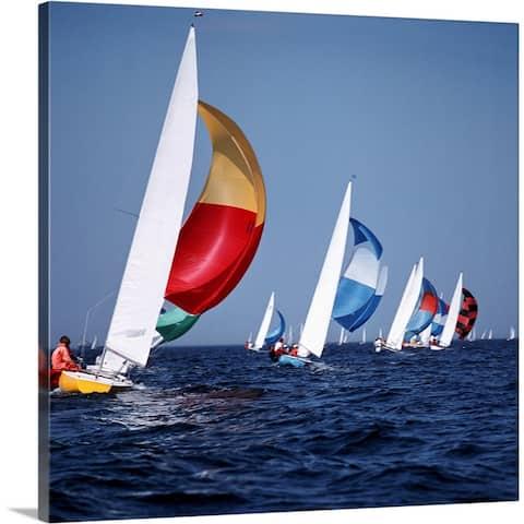 """""""sailing boats"""" Canvas Wall Art"""