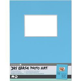 "Light Blue - Dry-Erase 11""X14"" Photo Mat Holds 4""X6"" Photo"