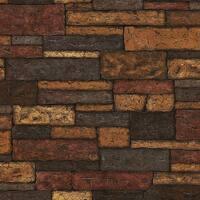 Brewster 412-41394 Bristol 56 Sq.Ft. Brick Imitating Wallpaper - N/A