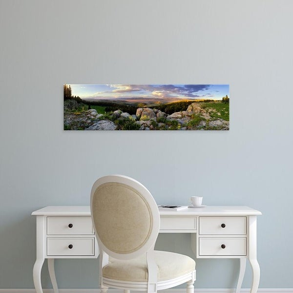 Easy Art Prints Panoramic Images's 'Sunset Madison River Valley Big Sky Country MT' Premium Canvas Art