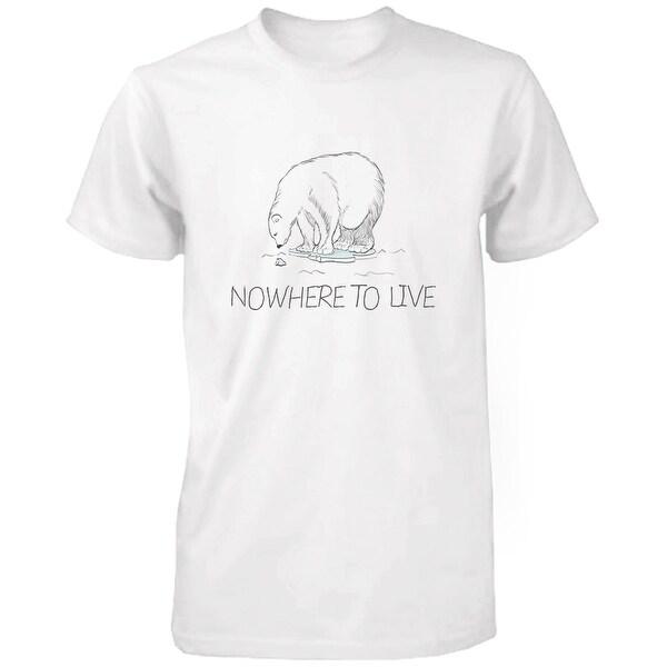 Nowhere To Live Polar Bear Men's Shirts Earth Day Save Polar Bear Campaign