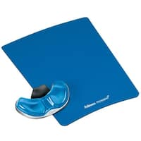 Fellowes, Inc. FEL9180601b Fellowes Gliding Palm Support with Microban Protection, and Mouse Pad, Gel, Blue (9180601)