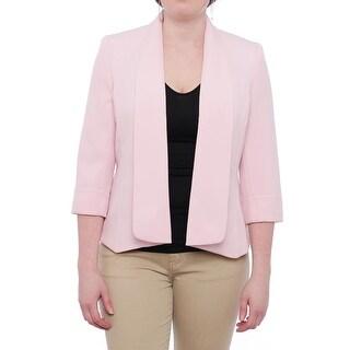 Kasper Open Front Jacket Basic Jacket Tutu Pink