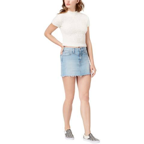 Hudson Womens Front Yoke Raw Hem Denim Skirt - 30