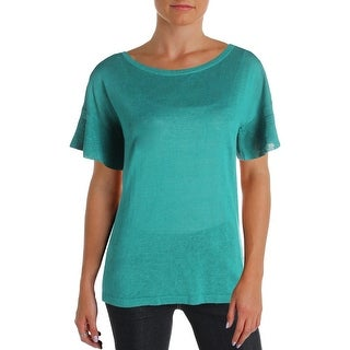 Weekend MaxMara Womens Calante Pullover Sweater Silk Blend Jewel Neck - S