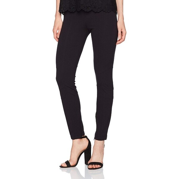 XOXO Solid Deep Black Size Large L Junior Stretch Pull-On Pants