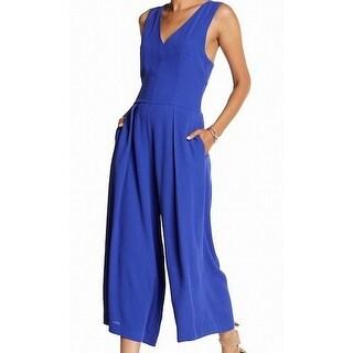 1. State NEW Blue Women's Size Large L Wide Leg V-Neck Jumpsuit