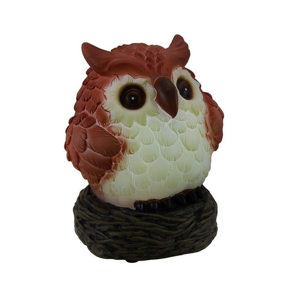 Glow Anywhere Owl LED Lighted Indoor/Outdoor Night Light Statue - brown