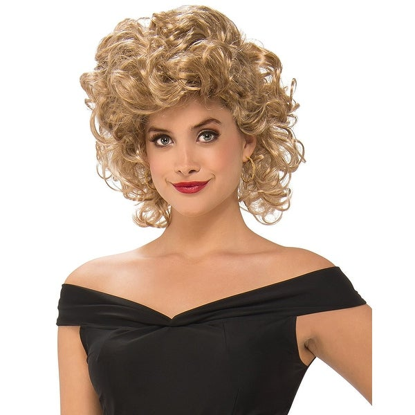 Shop Grease Bad Sandy Adult Costume Wig Yellow Free Shipping On