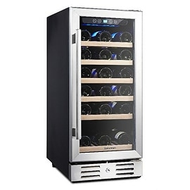 Kalamera 15'' Wine Cooler Refrigerator Chiller 30 Bottle Built-in Single Zone with Touch Control