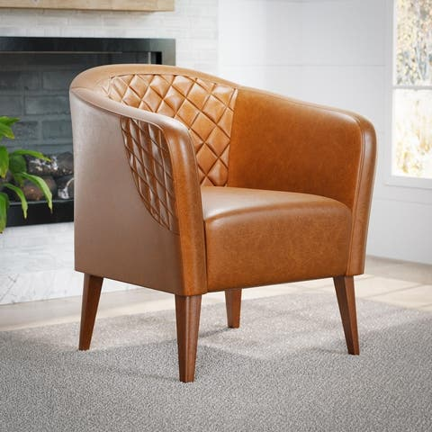 Brookside Vera Upholstered Barrel Accent Chair