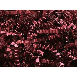 Pack of 1, Burgundy Crinkle Cut Paper Shred 10 Lb Spring-Fill Shred for Baskets, Basket Boxes, Bags, Containers & Nested Boxes